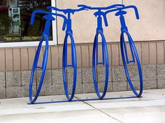 artistic bike rack | artistic-bike-rack-blue