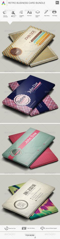 Retro Business Card Bundle
