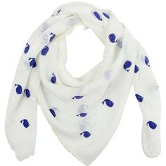 White Whale Polka Dot Print Summer Scarf ($18) ❤ liked on Polyvore featuring accessories, scarves, lightweight, white, white shawl, print scarves, long scarves, tie scarves and square scarves