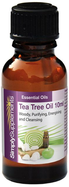 Tea tree oil is an essential oil with a woody, energising & purifying scent. It has been called a 'medicine cabinet in a bottle'. It helps to stimulate the immune system and acts as an antibacterial, antiviral formula. It has also been used topically for treatment of acne. Click for more information.