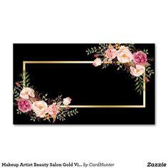 Resultado de imagem para cartoes para salao de beleza preto com detalhe preto com dourado