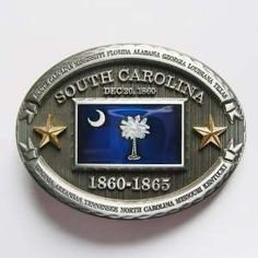 Confederate South Carolina State Flag Belt Buckle