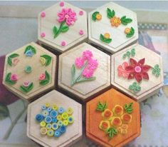 Pictures of  Unique Gift / Giveaways - Wooden Jewelry/Coin Box with Quilling Art Designs