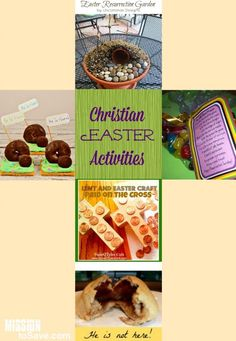 A roundup of Christian Easter Activities for the whole family. These help families focus on the true meaning of Easter.  He is Risen!