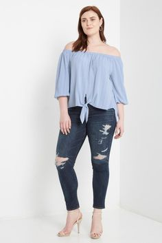 Braden Printed Off the Shoulder Top Plus Size