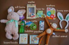 20 ideas for babys easter basket easter basket baby spring sugar stripe babys first easter basket negle Images