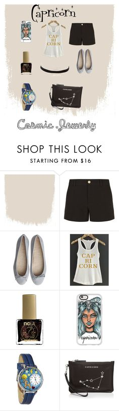 """""""Capricorn Thug"""" by tatiana-kulinich ❤ liked on Polyvore featuring Gucci, ncLA, Charlotte Russe, Casetify, Whimsical Watches and Etienne Aigner"""