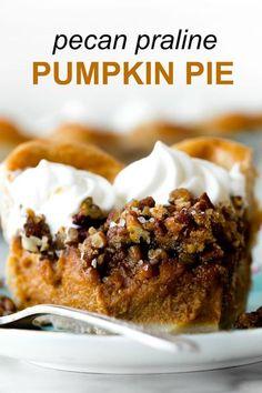 Pumpkin Pecan Pie, Pumpkin Pie Recipes, Spiced Pumpkin, Fall Dessert Recipes, Great Desserts, Fall Desserts, Traditional Pumpkin Pie Recipe, Pie Crust Designs, Just Pies