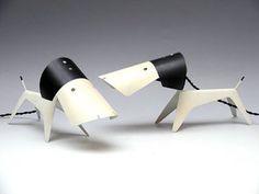 Jean Boris LaCroix, Dog Table Lamps for Disderot, 1950s.