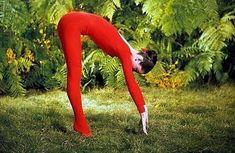 audrey does yoga