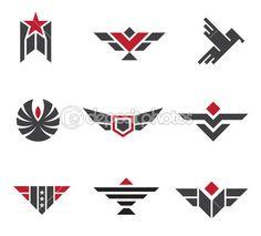 Armee und militärische Abzeichen und Stärke Symbole Logo symbol — Stockillustration #35377887