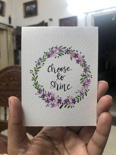 Tiny cards Wreath Watercolor, Watercolour Tutorials, Wreaths, Words, Door Wreaths, Deco Mesh Wreaths, Floral Arrangements, Garlands, Floral Wreath