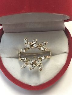 14K Yellow Gold Diamond Ring Guard Wrap Incert Enhancer Jacket - EXCLUSIVE DEAL! BUY NOW ONLY $550.0