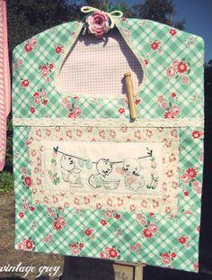 vintage grey: a vintage inspired clothespin bag