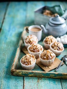 Banana and almond butter muffins: These delicious muffins make a great, healthy on-the-go breakfast. Replacing normal butter with almond butter really cuts down the calorie count as well as adding flavour.