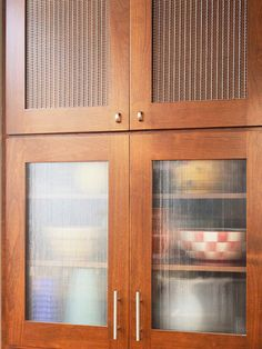Saw rain glass cupboards at menards and loved them | Kitchen ...
