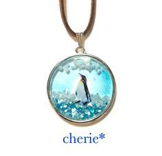 ペンギンと青空 ネックレス