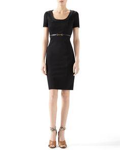 B2W9H Gucci Viscose Jersey Belted Dress