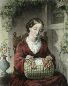 Thomas Woolner, (English painter, 1825 -1892) Lacemaker  http://bjws.blogspot.com/search/label/Lace