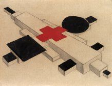 Ilya Chashnik, Design for a Suprematist architectural model, 1925-26