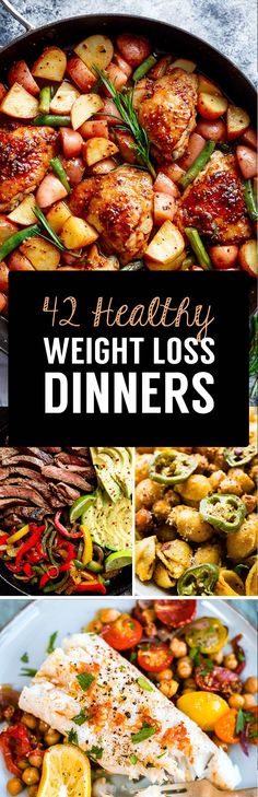 Weight loss dinner recipes - Delicious meals make losing weight fast and simple If you enjoy the food you are sitting down to, it makes sticking to a healthy, calorie controlled lifestyle a lot easier and if you are consistent w Stop Eating, Healthy Snacks, Dinner Healthy, Healthy Recipes Dinner Weightloss, Tasty Meals, Fast Healthy Meals, Heathy Food Recipes, Yummy Healthy Food, Simple Healthy Recipes