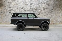 Motorcar Studio is pleased to offer this 1976 International Scout II. Finished in matte charcoal metallic with a matte black hard top and rallye stripe, it. Chevy Trucks Older, Chevy Pickup Trucks, Lifted Chevy Trucks, Lifted Ford Trucks, Chevy Pickups, International Pickup Truck, International Scout Ii, International Harvester Truck, Scout For Sale