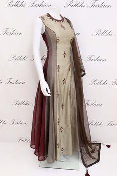 Lightweight Hand worked Designer Silk Outfit