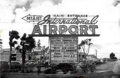 1949- Miami International Airport, 36th Street