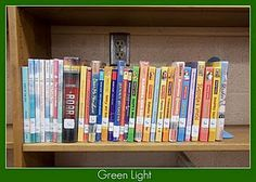 ***************The Book Butcher: library skills Red light/green light shelves School Library Lessons, Library Lesson Plans, Middle School Libraries, Elementary School Library, Library Skills, Library Books, Library Shelves, Children's Books, Preschool Library