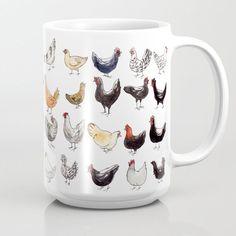 52 French Chicken Breeds Coffee Mug by Kness - 15 oz My Coffee, Coffee Cups, Chicken Art, Chicken Breeds, Cute Mugs, Chickens Backyard, Ceramic Painting, Mug Cup, Decoration