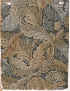 'Acanthus' wallpaper by William Morris, 1875.