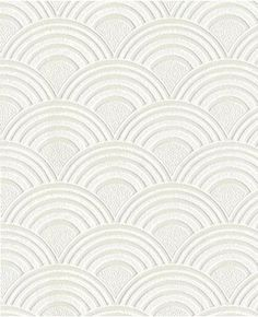 Textured Wallpaper Arches White Wallpaper - Geometric Wall Coverings by Graham Brown