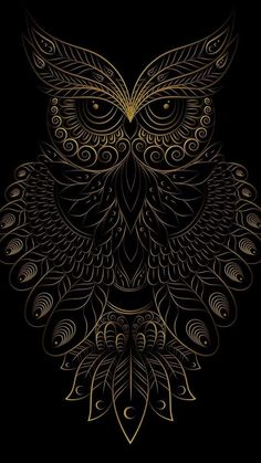 Coruja Arte VitralYou can find Owl art and more on our website. Owl Wallpaper Iphone, Mandala Wallpaper, Dark Wallpaper, Owl Tattoo Drawings, Art Drawings, Tattoo Art, Mandala Art, Mandala Tattoo, Fantasy Kunst