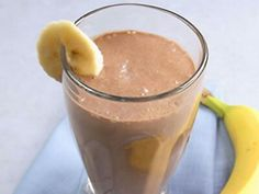 Chocolate Banana Nutribullet Recipe: one scoop of your favorite chocolate protein powder,  1 banana, 1 tblsp creamy peanut butter, 1/2 cup vanilla yogurt (I sub with fat free) ice and a littlec water for blending.