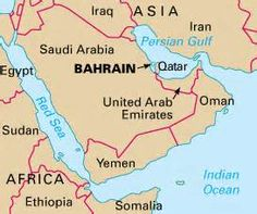 Bahrain karte im bahrain reisefhrer httpabenteurer3397 map showing location of bahrain gumiabroncs Images