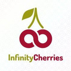 "I like how the green is used for the stem and then the first word, and red for the cherries and the second word. It gives an orderly appearance to the logo from top to bottom and left to right. The cherries forming an infinity sign is creative, although it looks more like a sideways ""s"" depending how you look at it. Connecting the lines in the cherries/ infinity symbol might help."