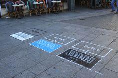 Microsoft Surface par Urban Act Street Marketing, Microsoft Surface, Advertising, Geek, Urban, Journal, Life, Geeks
