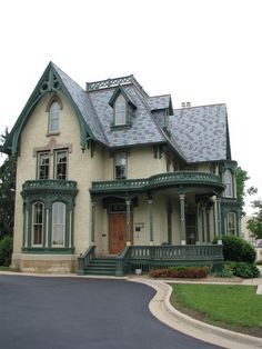 Historic Victorian Gothic styled house in Rockford, Illinois.