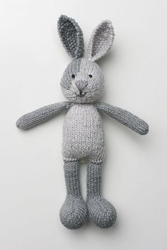We've scoured the internet and found 17 unbelievably cute toy knitting patterns. These knit toys are sure to put a smile on any little girl or boy's face. patterns free toys 17 Unbelievably Cute Toy Knitting Patterns - Ideal Me Knitted Bunnies, Knitted Animals, Knitted Dolls, Crochet Toys, Knitted Stuffed Animals, Knit Crochet, Knitted Baby, Baby Knitting Patterns, Knitting Baby Girl