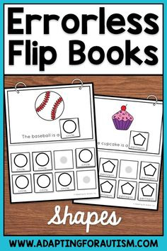 Errorless Learning Activities for Special Education and Autism - Shapes Matching Autism Classroom, Classroom Activities, Learning Activities, Special Education Math, File Folder Activities, Work Task, Flip Books, Shape Matching, Student Learning
