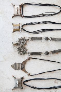No info on these necklaces - they look Berber and contemporary.