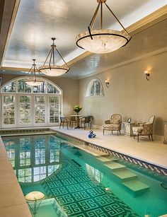 Lighting plays a key role in defining the theme of your indoor pool - Decoist