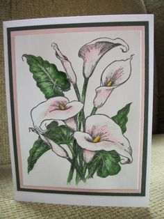 handpainted calla lillies by auntangie - Cards and Paper Crafts at Splitcoaststampers