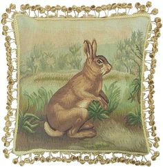 ...to go with the peacock cushion of course, and who could resist little brer rabbit?