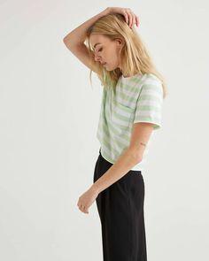 Women's Pima Boxy Crop Tee – Womens Women's T-Shirts – Richer Poorer