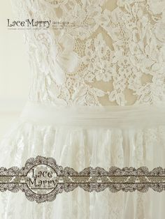 The Appliques are delicately stitched on piece by piece on the Sheer Tulle Bodice. Bohemian Beach Wedding, Bohemian Style, Lace Wedding, Boho, French Lace, Wedding Dress Styles, Lace Applique, Silk Satin, Appliques