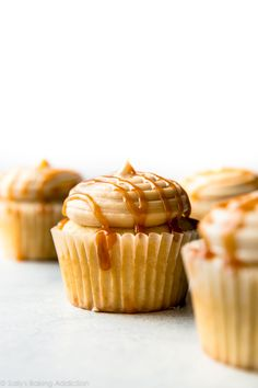 5 ingredients and so easy! This new & improved salted caramel frosting is ultra creamy and downright addicting!