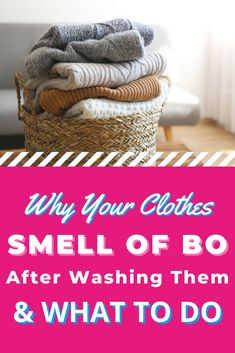 Still getting a whiff of BO after washing your clothes with scented laundry detergent? Here's why -- plus how to remove body odors from clothes. Laundry Storage, Diy Storage, Body Odor, Doing Laundry, Laundry Detergent, Cleaning, Clothes, Outfits, Clothing
