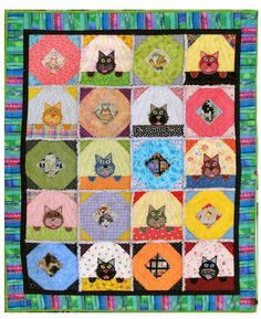 Purrs and Prayers for Tanya  Quilt by Karen and Celia