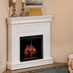 Do you have an empty corner that needs some decoration? An electric fireplace is a great addition!